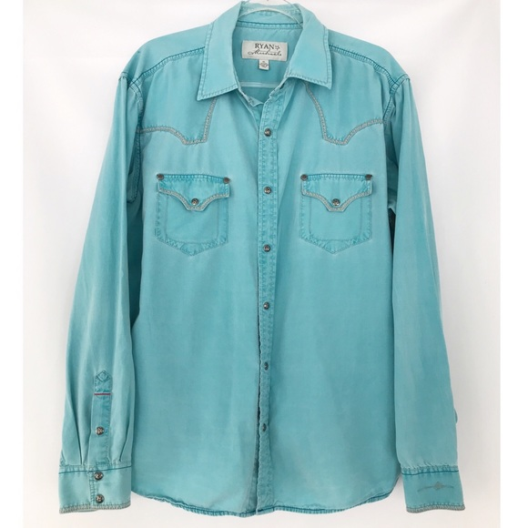 ee10ead4 Ryan Michael Shirts   Silk Cotton Western Snap Shirt   Poshmark